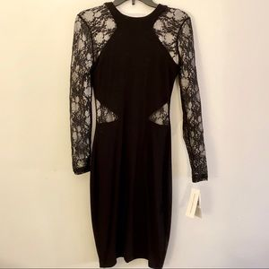 French Connection Lace Cutout Bodycon Dress